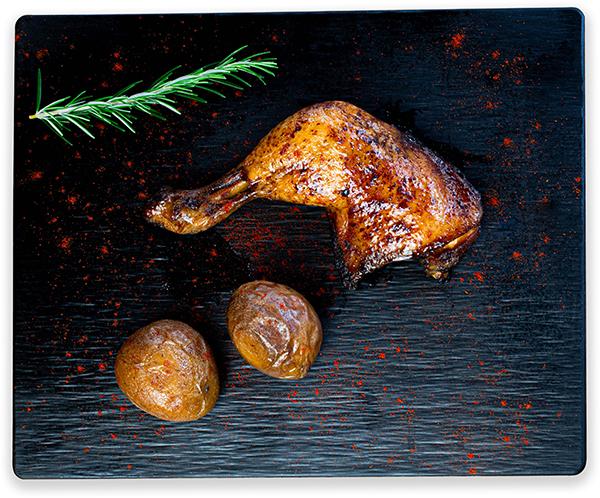Muslos de pollo al horno con patatas