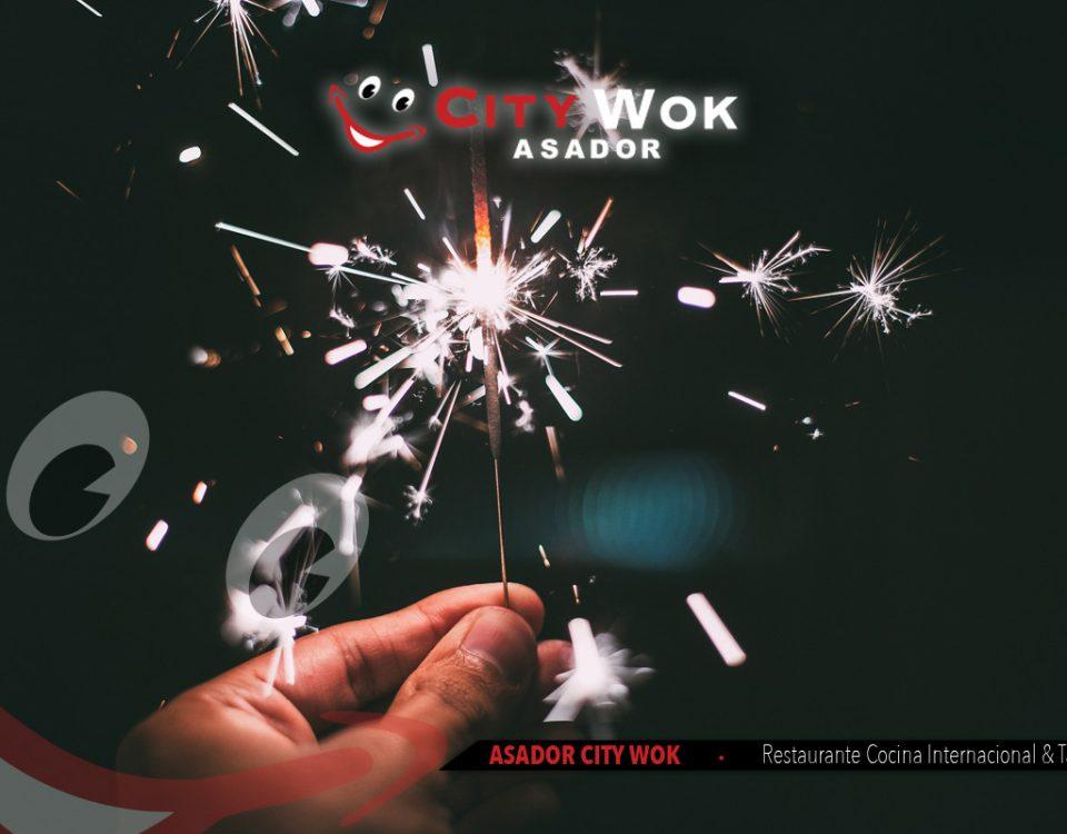 Celebra Nochevieja en Asador City Wok de Granada