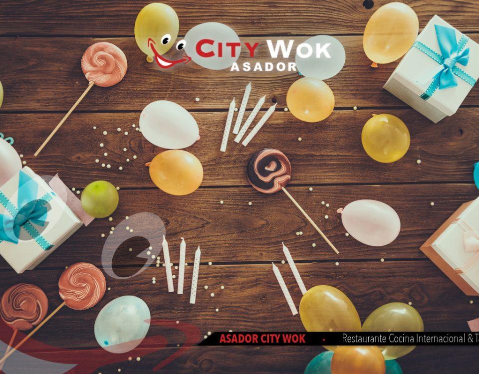 Celebra tus cumpleaños y eventos en el Restaurante City Wok de Granada