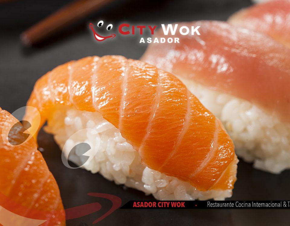 Disfruta del Nigiri en el Restaurante Asador City Wok Granada